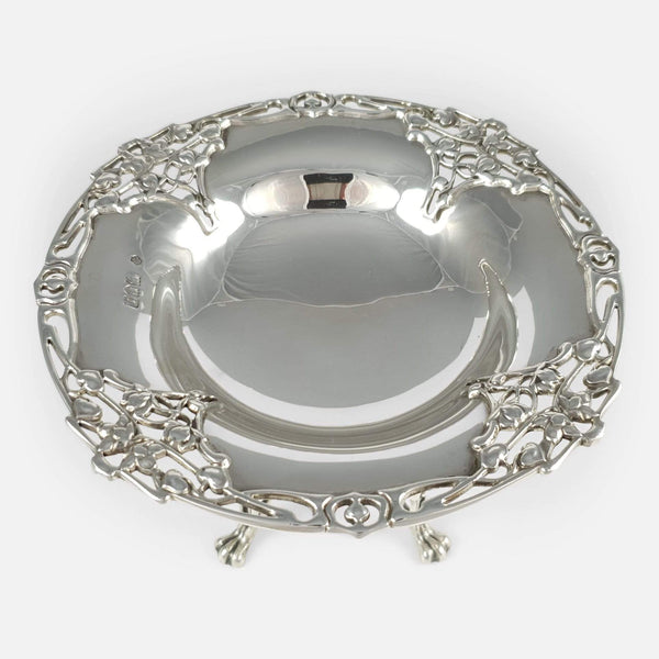 Sterling Silver Tazza William Hutton & Sons London 1906 - Argentum Antiques & Collectables