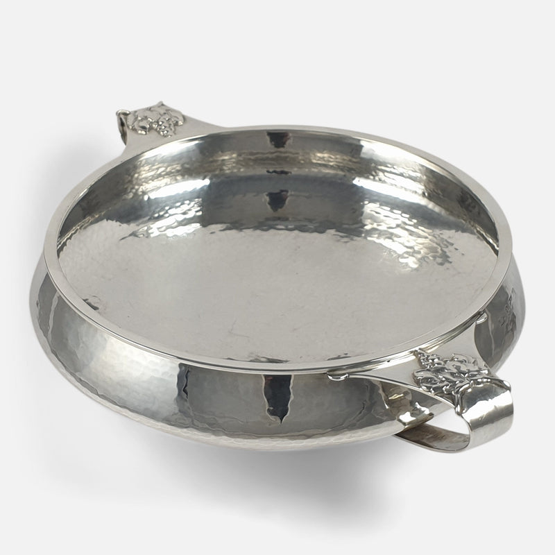 Arts and Crafts Sterling Silver Twin-Handled Bowl, A. E. Jones, 1928