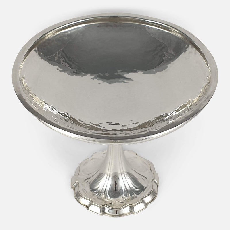 Arts & Crafts Sterling Silver Tazza, Omar Ramsden, London, 1926