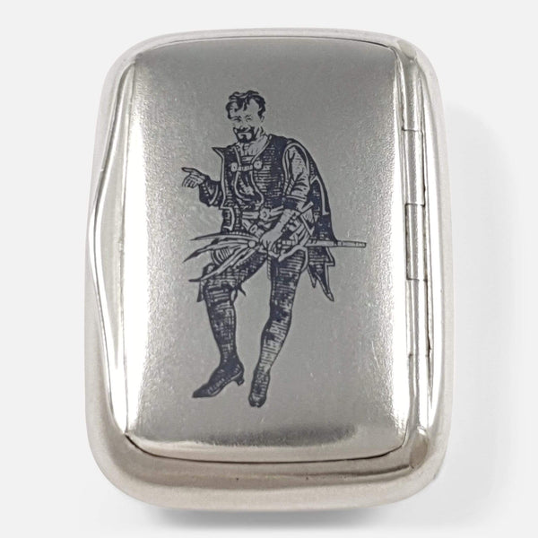 Austro-Hungarian Silver and Niello Vesta Case - Argentum Antiques & Collectables