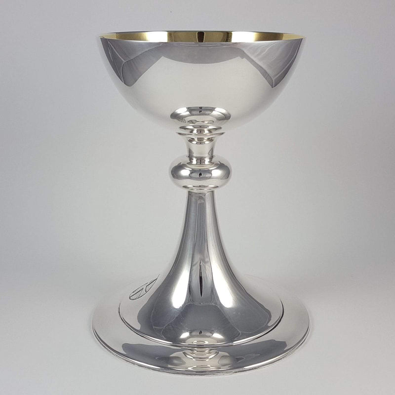 Cased Sterling Silver Chalice and Paten London 1955 - Argentum Antiques & Collectables