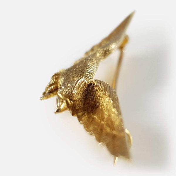 15ct Yellow Gold Eagle Brooch - Argentum Antiques & Collectables