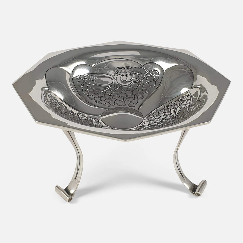 Edwardian Art Nouveau Silver Tazza by Kate Harris for W.G. Connell - Argentum Antiques & Collectables
