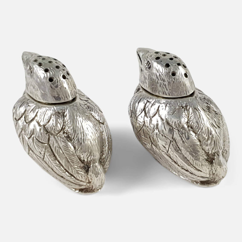 Edwardian Chick Pepper Pots Charles & George Asprey - Argentum Antiques & Collectables