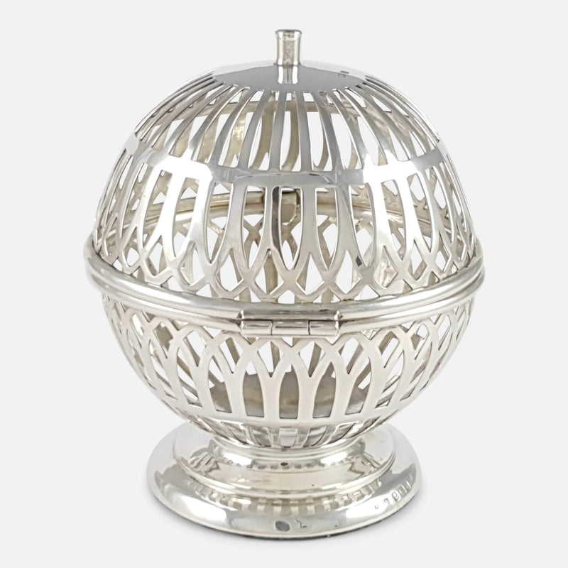 Edwardian Sterling Silver String Box Dispenser - Argentum Antiques & Collectables