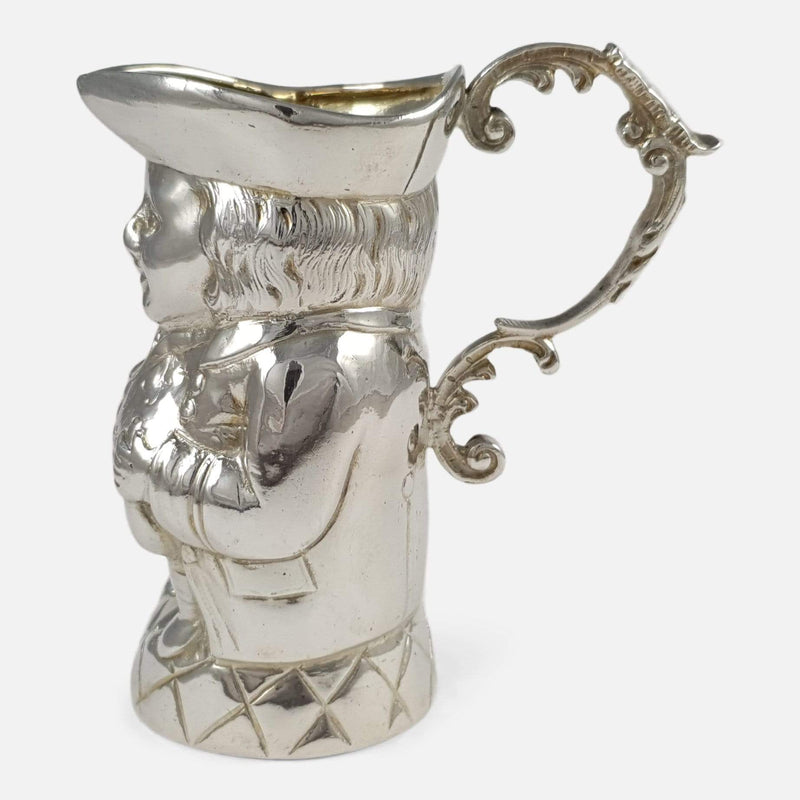 Edwardian Sterling Silver 'Toby Jug' Cream Jug - Argentum Antiques & Collectables