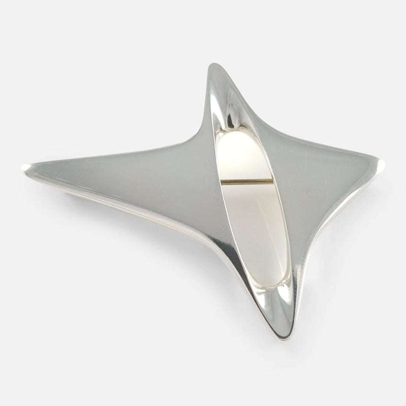 Georg Jensen Danish Silver Abstract Brooch #339 Henning Koppel - Argentum Antiques & Collectables
