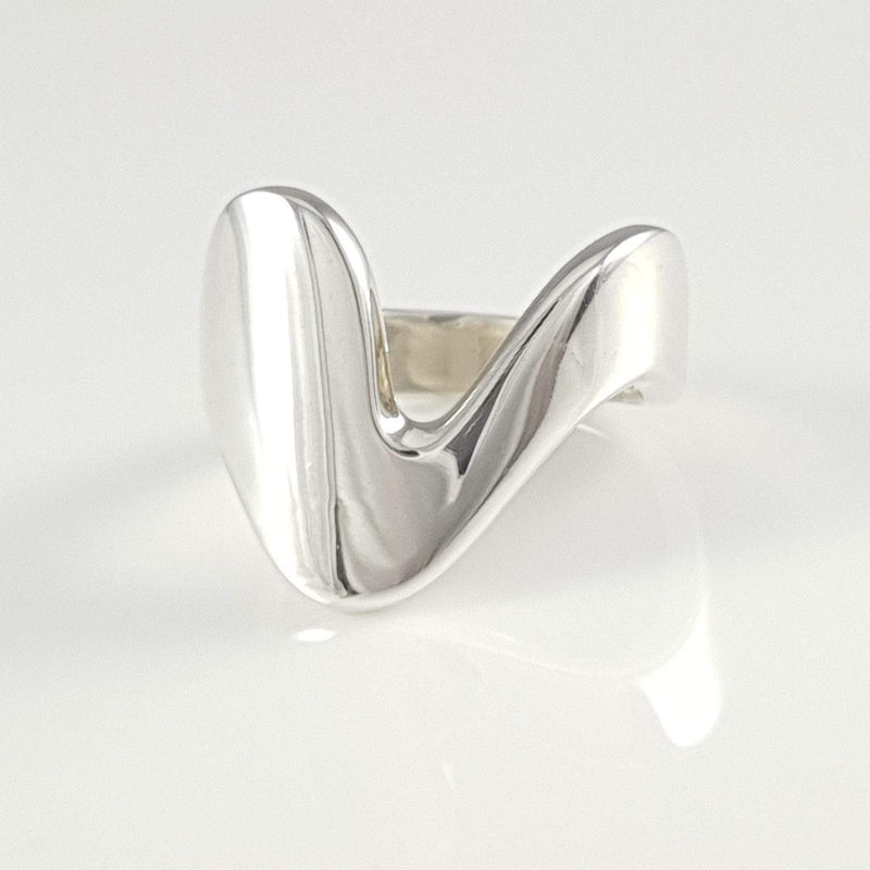 Georg Jensen Sterling Silver Modernist Ring #A77 B - Argentum Antiques & Collectables