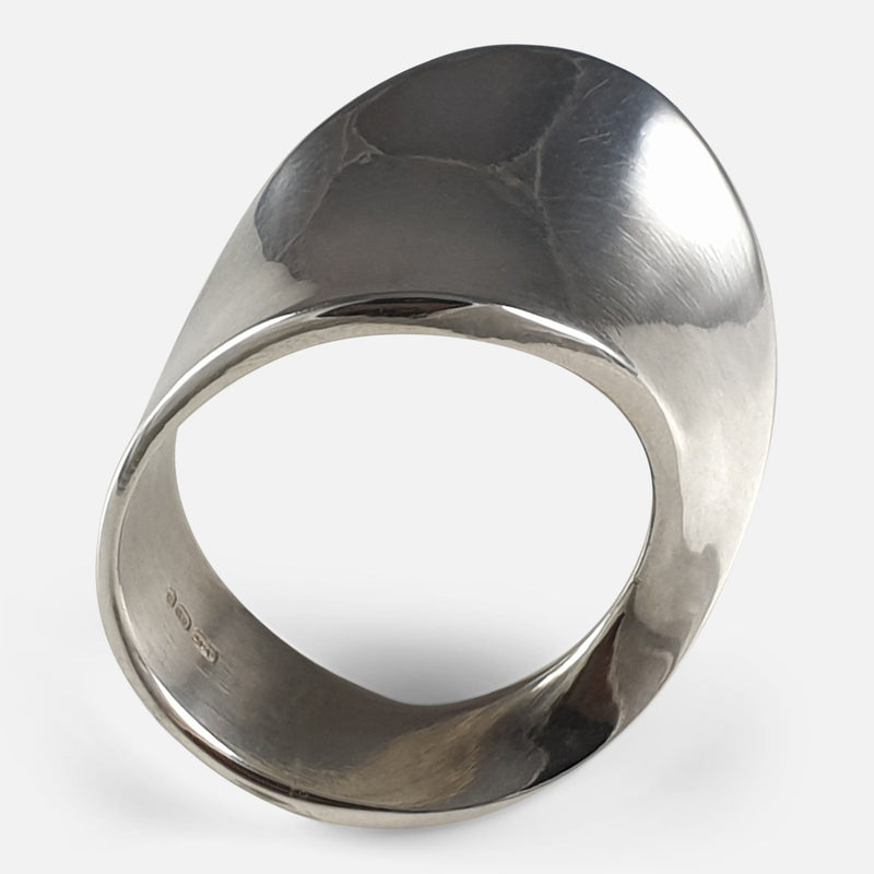 Georg Jensen Sterling Silver #148 MÖBIUS Ring viewed from the front