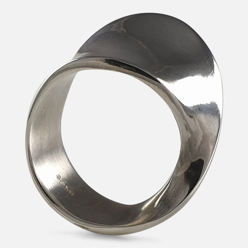 Georg Jensen Sterling Silver #148 MÖBIUS Ring viewed from the right