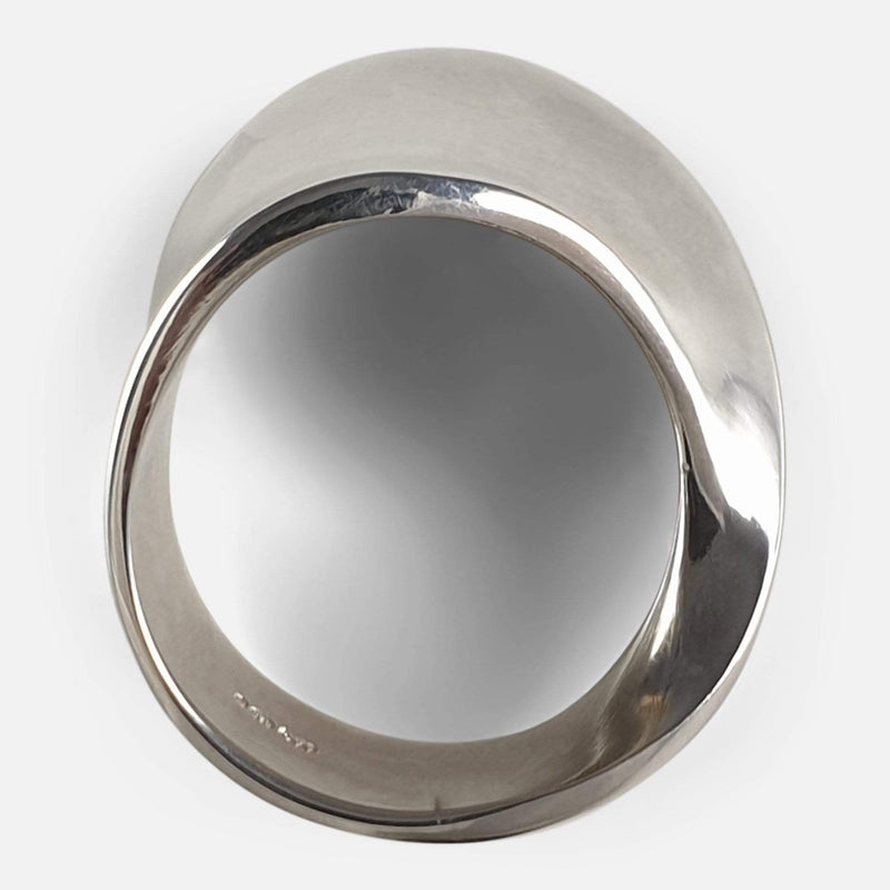 Georg Jensen Sterling Silver #148 MÖBIUS Ring viewed from above