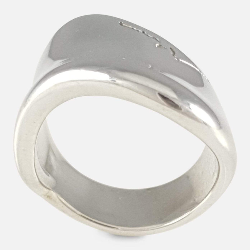 Georg Jensen Sterling Silver Modernist Ring #257, Minas Spiridis image showing of shape of ring