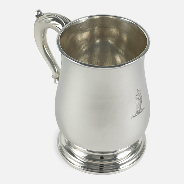 George III Sterling Silver Mug, John Robinson II, London, 1766