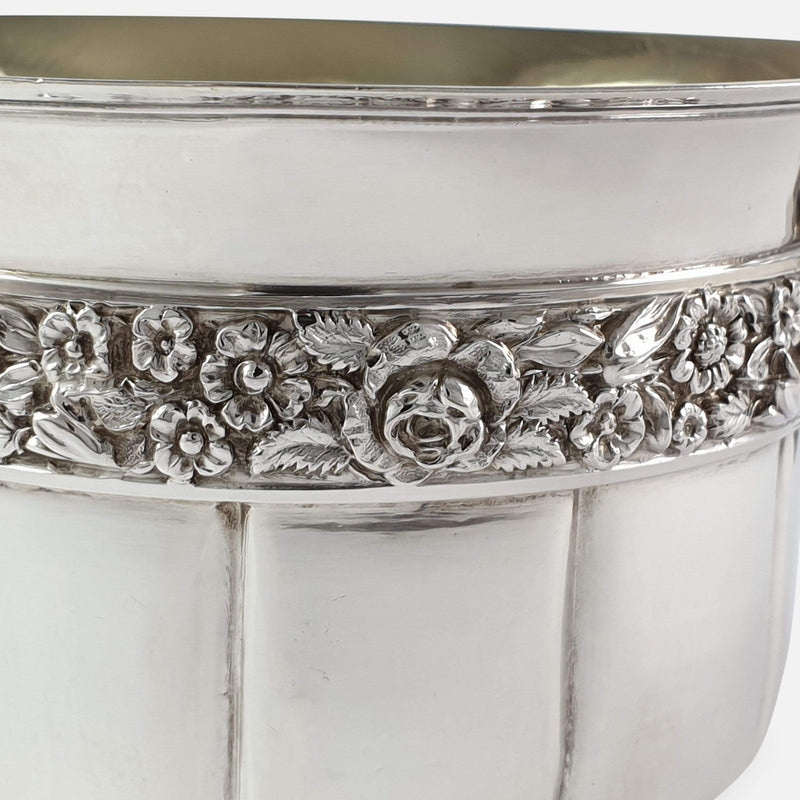 George IV Sterling Silver Gilt Christening Cup, London, 1828 focused in