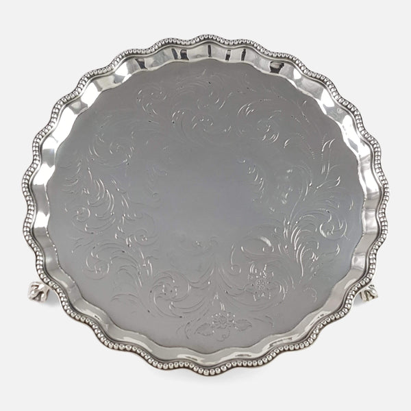 Hester Bateman George III Silver Waiter London 1780 - Argentum Antiques & Collectables