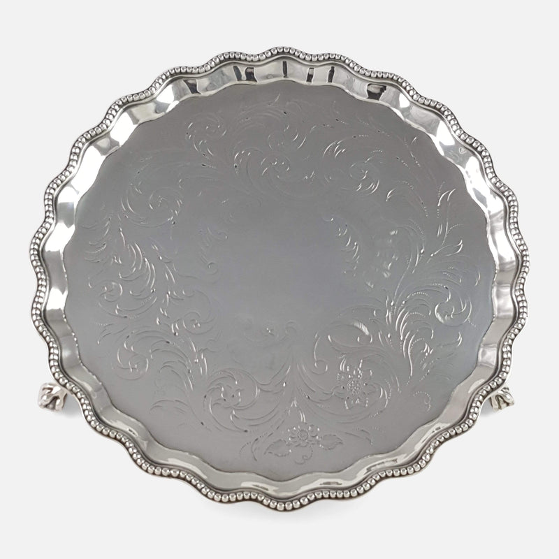 a birds eye view of the silver salver