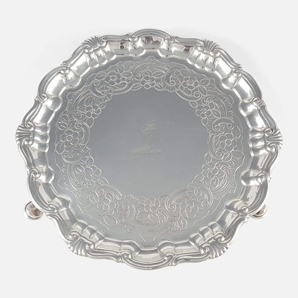 the silver salver viewed from above