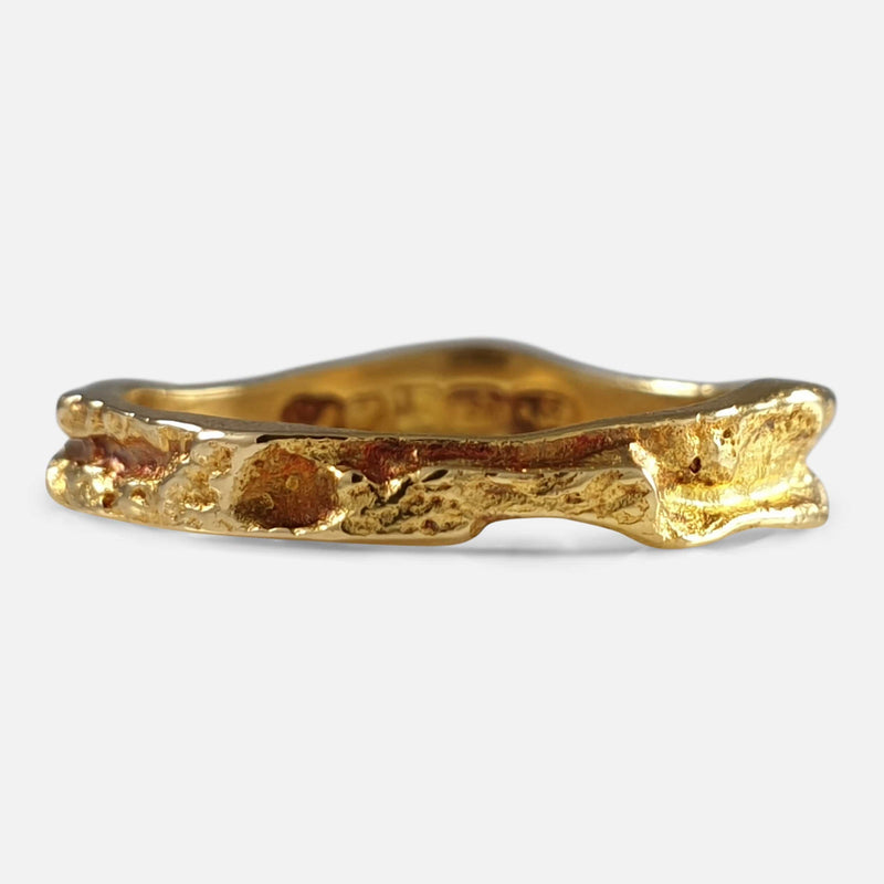 "Lapponia 18ct Yellow Gold ""Lapp gold"" Ring Band Björn Weckström 1987 viewed from the front"