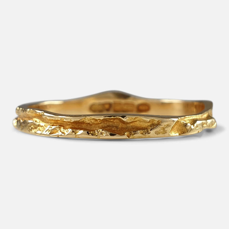 "Lapponia 18ct Yellow Gold ""Lapp gold"" Ring Björn Weckström, 1991 viewed from the front"
