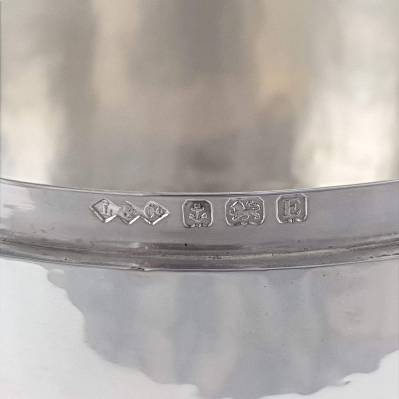 Liberty and Co Sterling Silver Hammered Biscuit Box Birmingham 1929 hallmarks and makers marks
