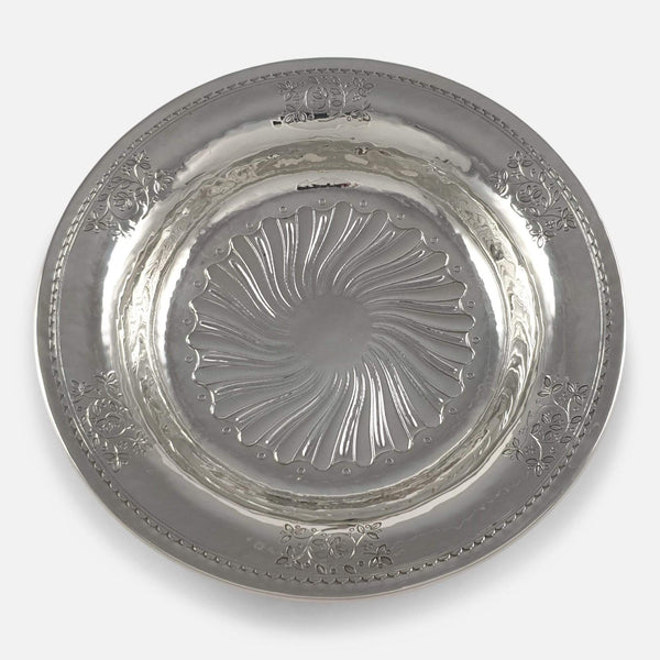 Liberty & Co Sterling Silver Hammered Dish Birmingham 1911 - Argentum Antiques & Collectables