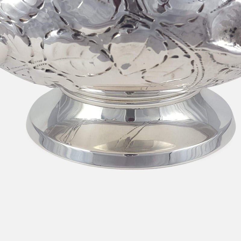 Norwegian Silver Hammered Bowl N.M Thune - Argentum Antiques & Collectables