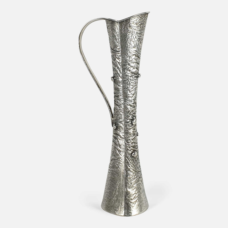 Silver Samorodok Vase, Kultakeskus Oy, Finland 1972 viewed from the left side