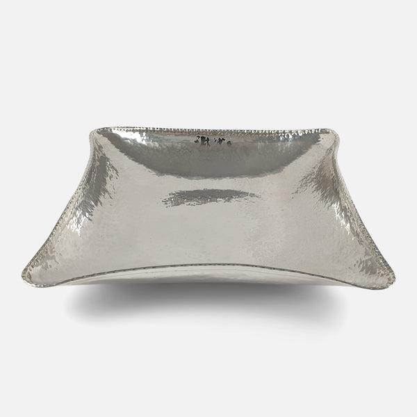 Sterling Silver Hammered Bowl, Edinburgh, 1943 viewed from the front