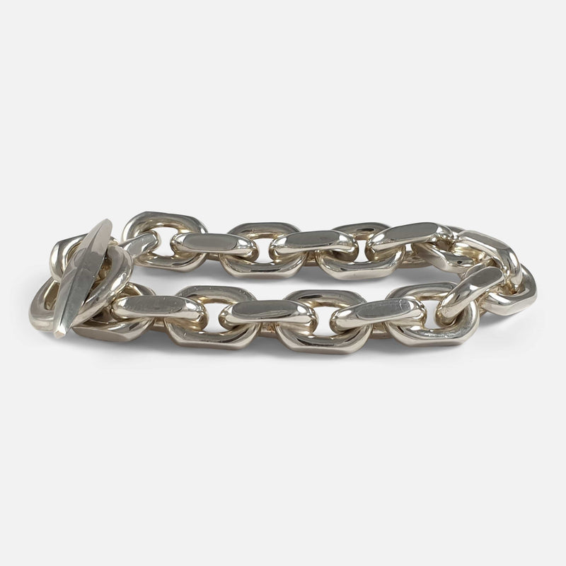 Sterling Silver Marine Anchor Link Bracelet, Bjarne Nordmark Henriksen viewed from the right