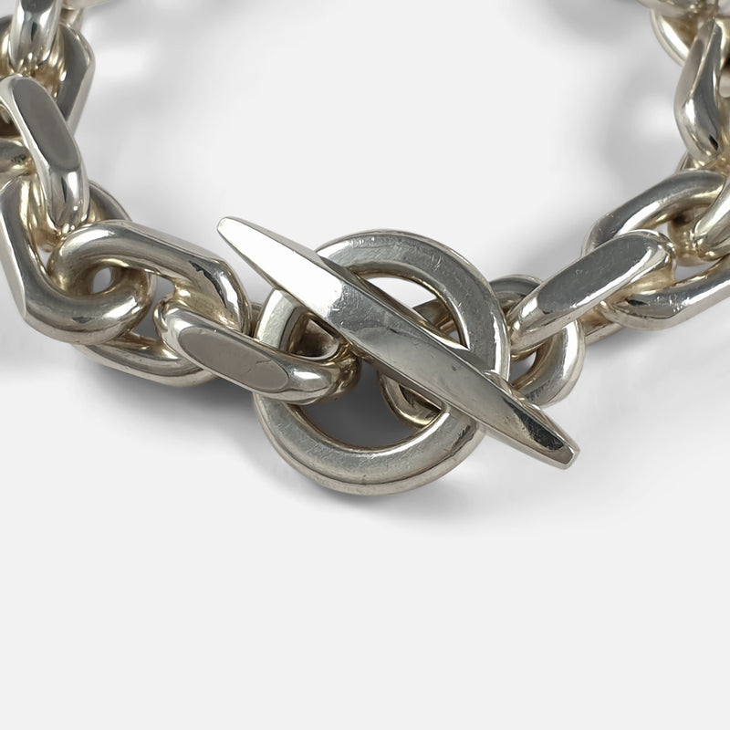 Sterling Silver Marine Anchor Link Bracelet, Bjarne Nordmark Henriksen focused in