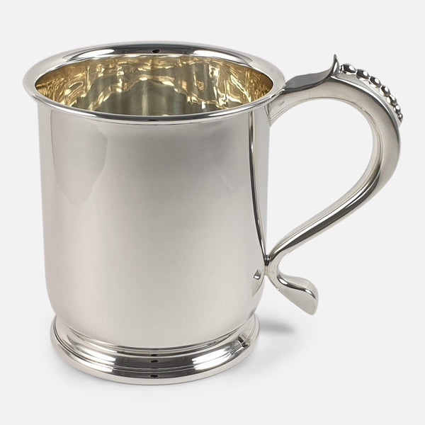 Sterling Silver Pint Tankard, Mappin & Webb Ltd, 1937, 311.6g