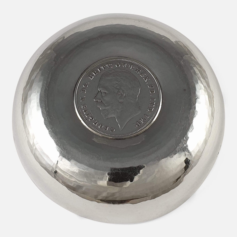 Sterling Silver Bowl, H. G. Murphy, London, 1936 viewed from the back