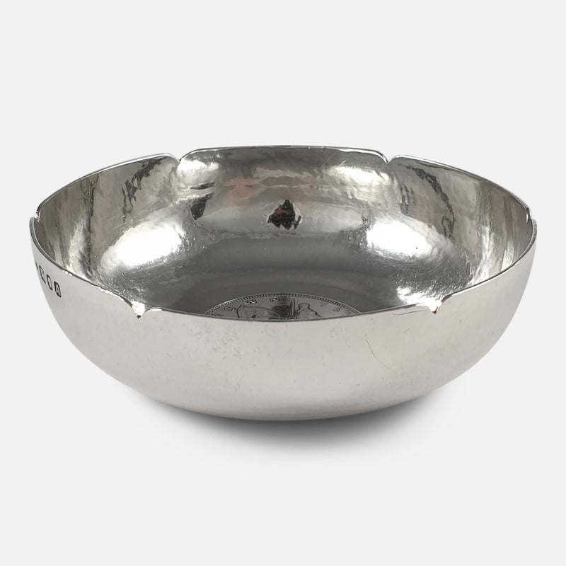 Sterling Silver Bowl, H. G. Murphy, London, 1936 viewed from the front