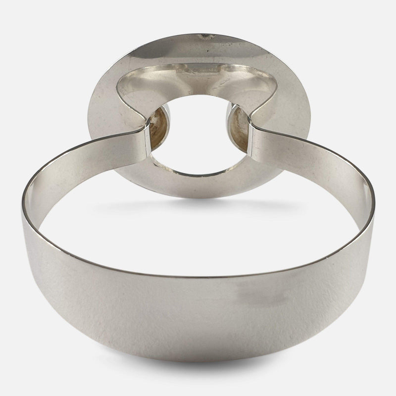 Swedish Silver Bangle Designed by Lindström for Bengt Hallberg 1971 viewed from the back