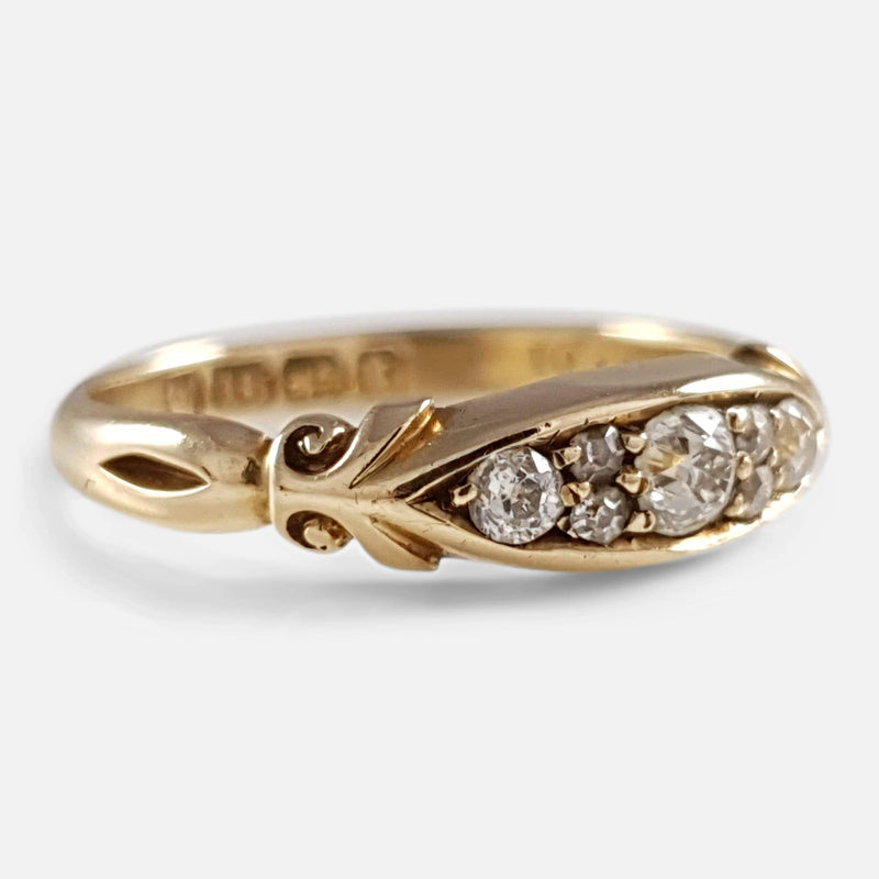 Victorian 18ct Yellow Gold Diamond Ring 1897 - Argentum Antiques & Collectables
