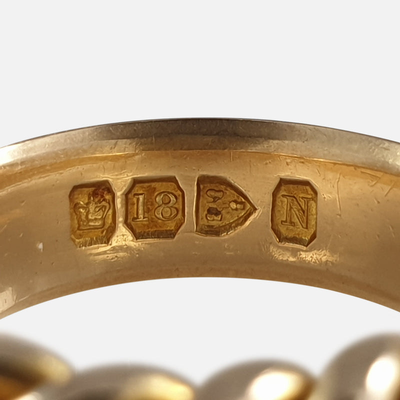 Victorian 18ct Yellow Gold Mizpah Ring, Birmingham 1896 hallmarks and makers marks