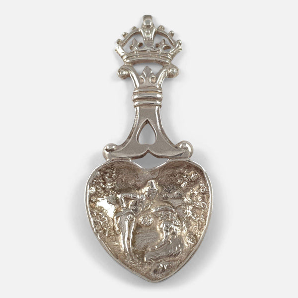 Victorian Scottish Silver Caddy Spoon J.M.Talbot Edinburgh 1896 - Argentum Antiques & Collectables