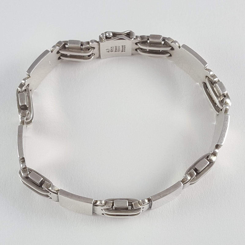 Danish Sterling Silver Bracelet Georg Jensen #48 1945-1951 - Argentum Antiques & Collectables