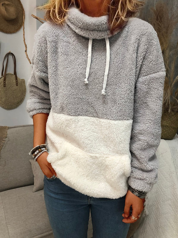 Sweat-shirt Blanc-gris Tricoté