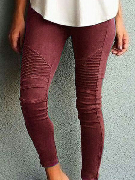 Pantalon slim couleur unie