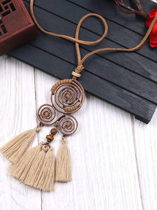 Plage Femmes Collier Long Boass Tassel