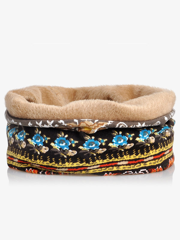 Echarpe bicolore en molleton de coton imprimé rétro Tribal Hat Black Friday