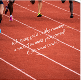 Achieving goals is like running a race