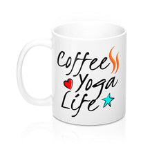 Load image into Gallery viewer, Coffee Yoga Life Mug - Coffee.Yoga.Life.