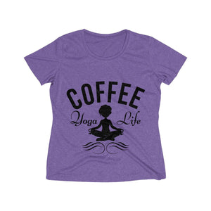 Coffee Meditation Tee - Coffee.Yoga.Life.
