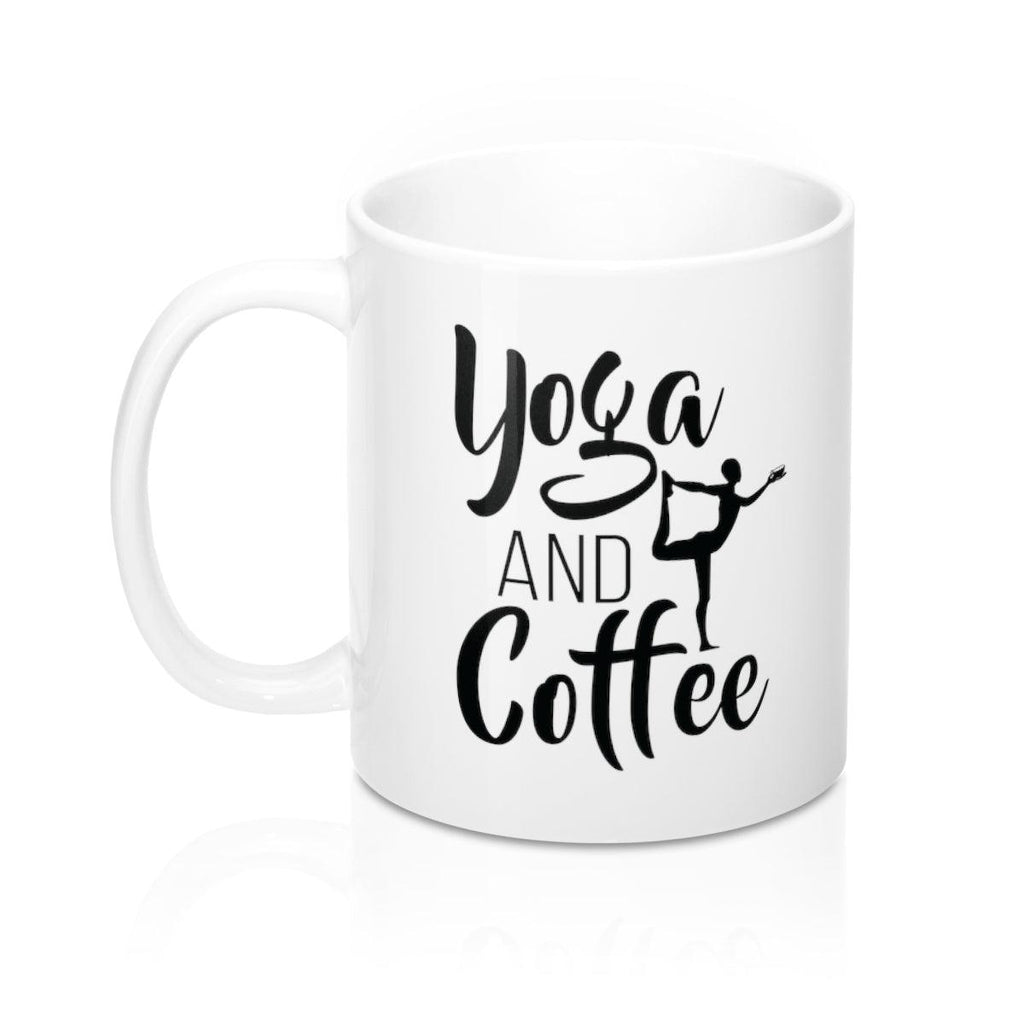 Yoga and Coffee Mug - Coffee.Yoga.Life.