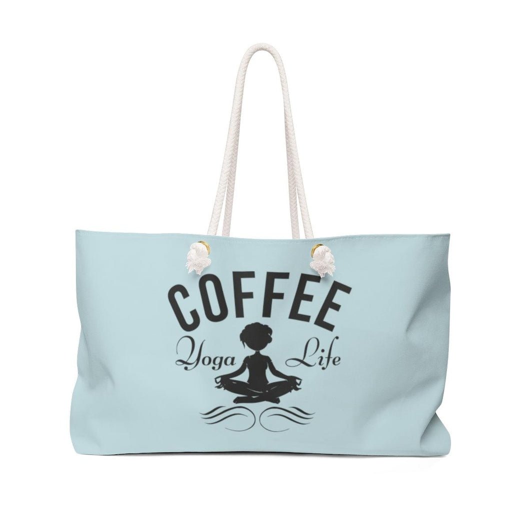 Weekender Bag- Teal - Coffee.Yoga.Life.