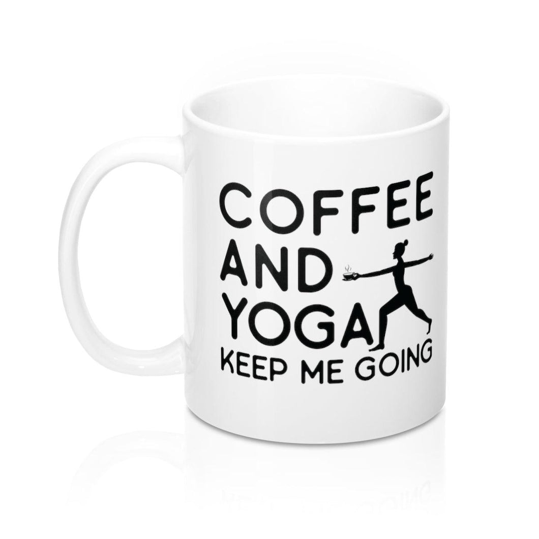 Keep Me Going Mug - Coffee.Yoga.Life.
