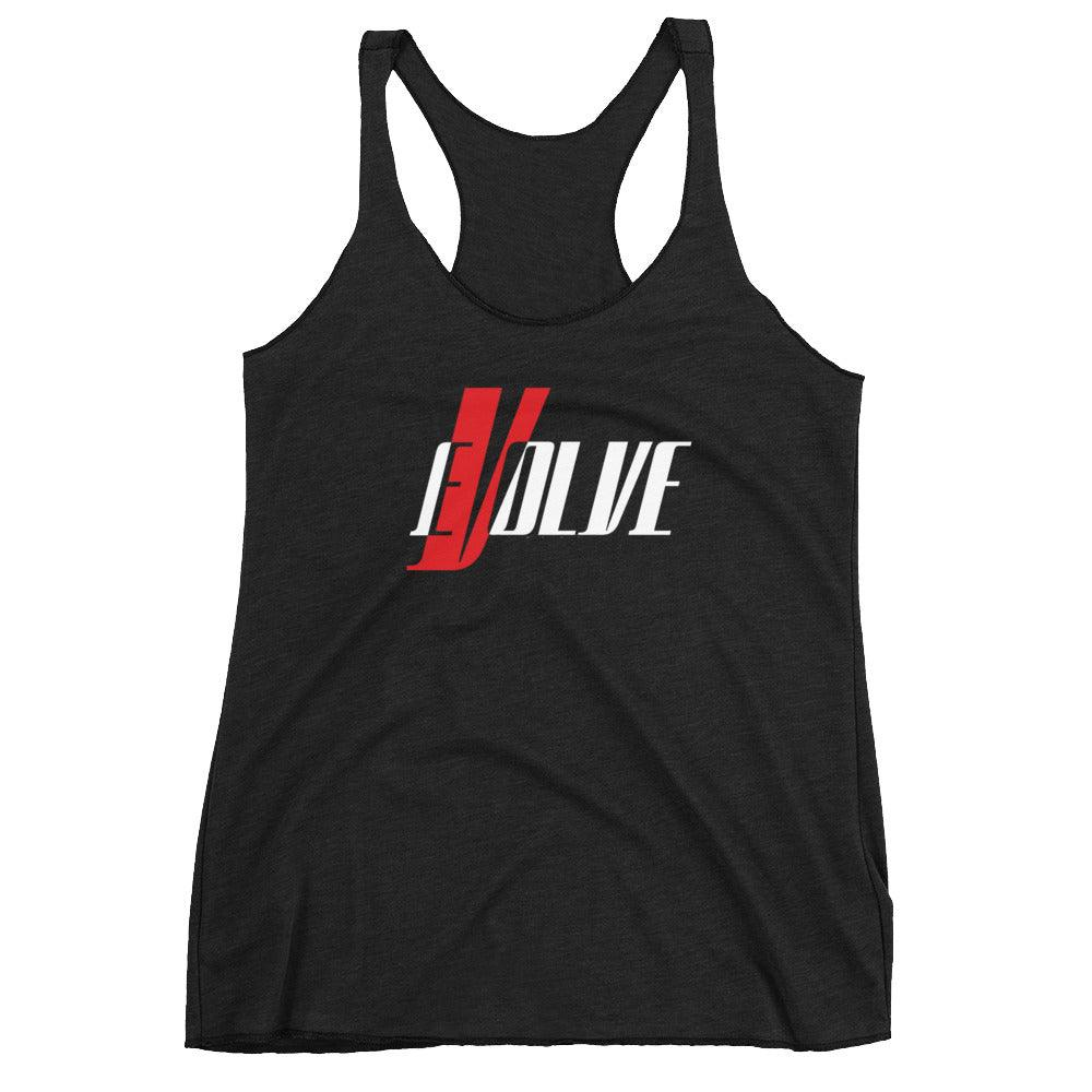 Evolve Women's Racerback Tank - Coffee.Yoga.Life.