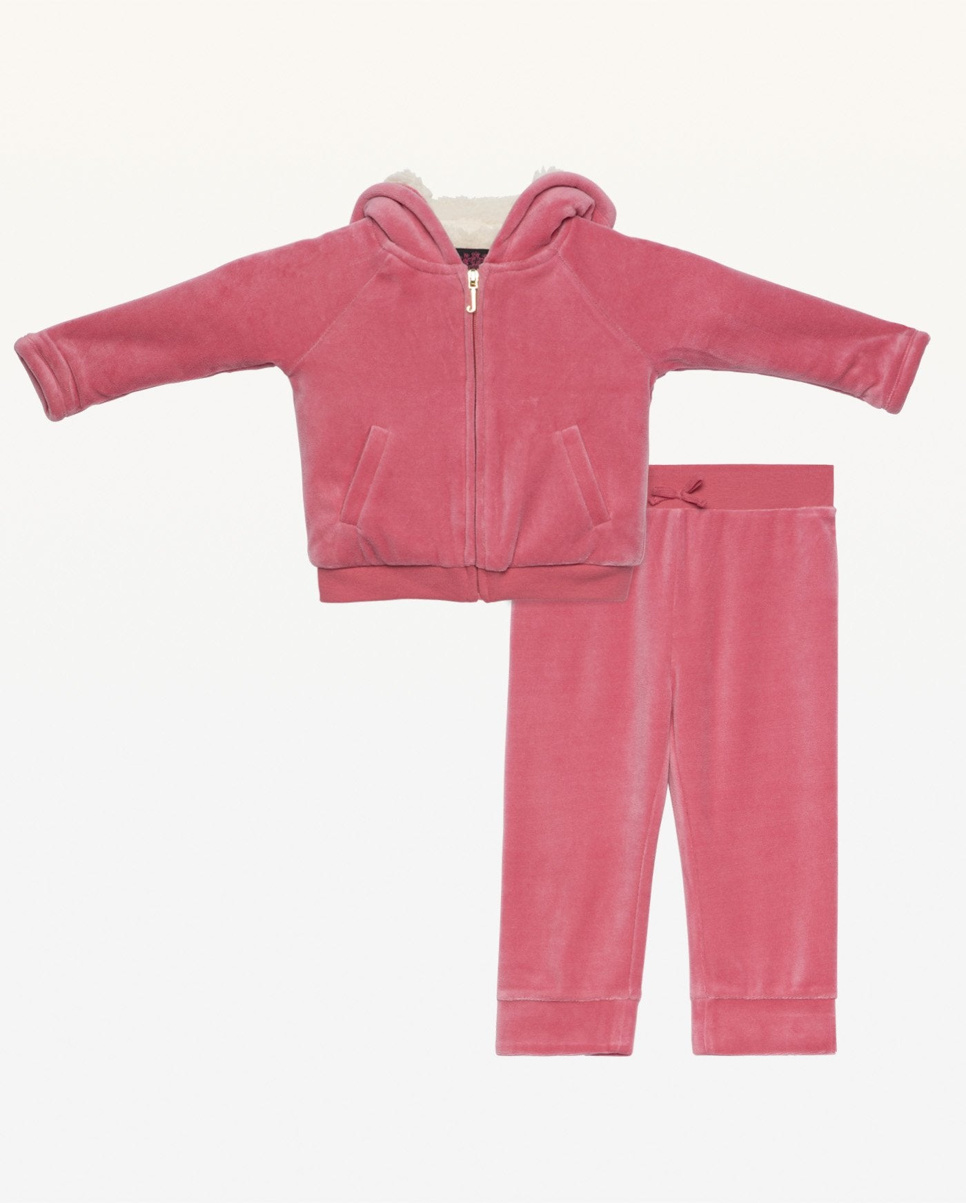 Life Is Better in Juicy Sherpa Lined Track Set for Baby